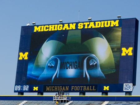 The University of Michigan Wolverines opened their 2011 football season on Saturday, Sept. 3, with new scoreboards at the Big House in Ann Arbor and a new coach, Brady Hoke.