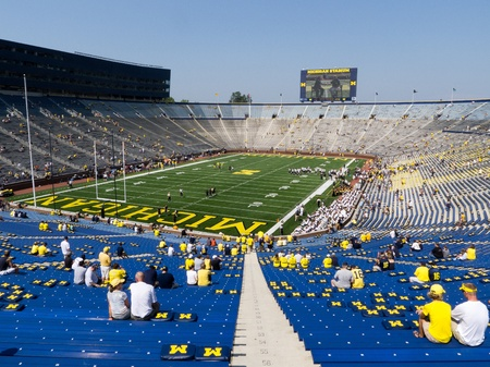 big house: The University of Michigan Wolverines opened their 2011 football season on Saturday, Sept. 3, with new scoreboards at the Big House in Ann Arbor and a new coach, Brady Hoke.