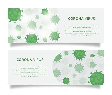 corona virus background template for banner