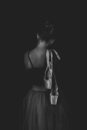 ballerina on a dark background