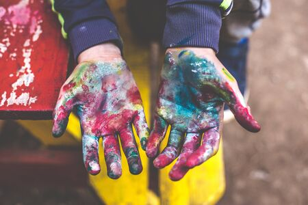 hands in colors