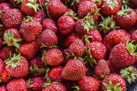strawberries close up Banco de Imagens