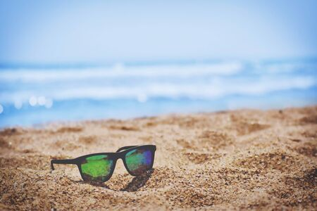 sunglasses by the sea Banco de Imagens