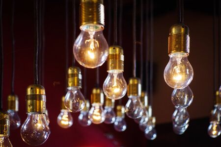 light bulbs close up Archivio Fotografico