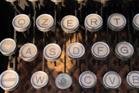 particolare: particolare macchina da scrivere Archivio Fotografico