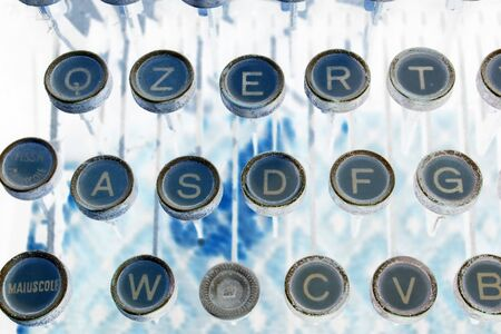 abstract typewritter keys photo