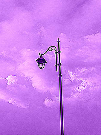 abstract lamp with clouds photo