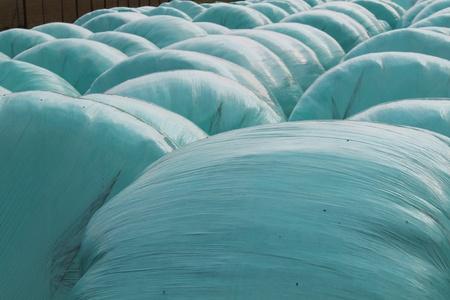 pila: balls of hay packed