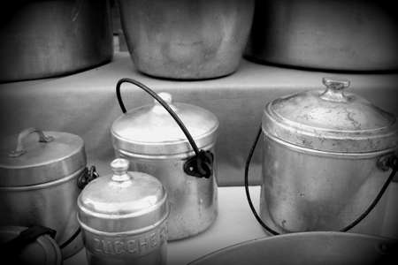 cans and aluminum cookware Stock Photo - 18244889