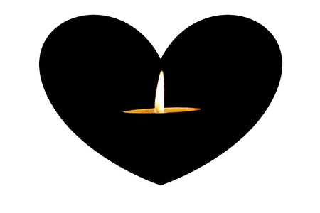 candle in heart photo