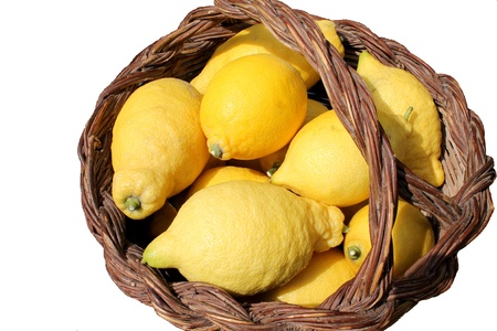 citrons: basket of lemon