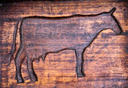 cow inlaid Stock Photo