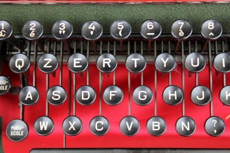 detail of an old typewriter photo