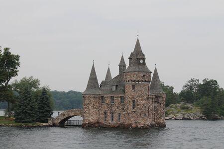 old castle on island