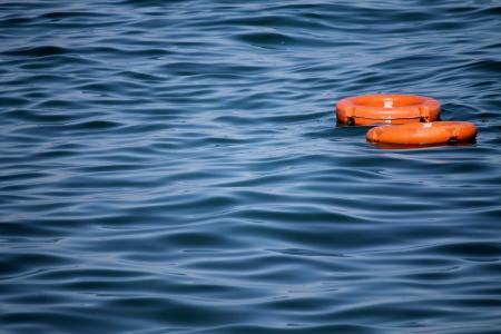 lifesaver boat Stock Photo