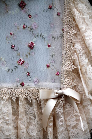 old embroidered curtain Stock Photo - 23265688