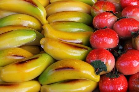 marzipan fruits Archivio Fotografico