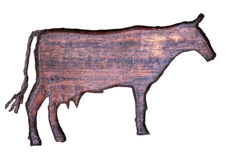 inlaid: cow inlaid Stock Photo