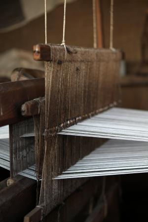loom: weaving loom Stock Photo