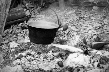 cauldron on the fire photo