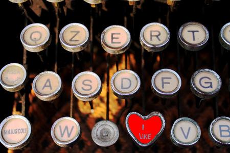 like on old typewriter photo