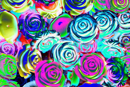 abstract colored roses stones photo