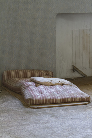 mattress in abandoned hospital photo