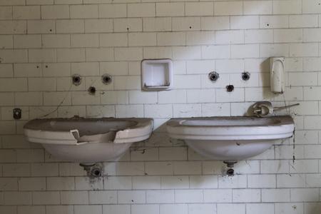 dilapidated: dilapidated bathrooms