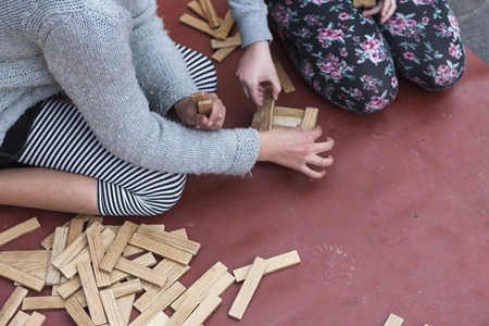 wooden toys for children photo