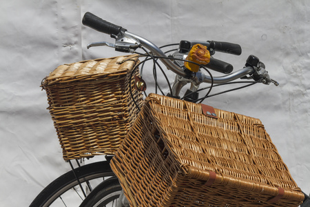 bicycle whit baskets photo