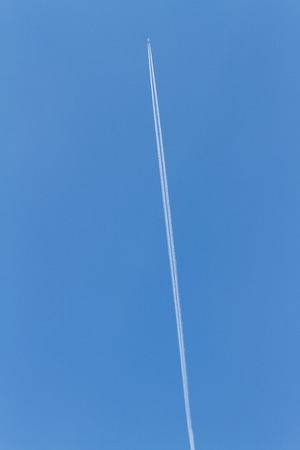 arousing: wake of aircraft in the sky