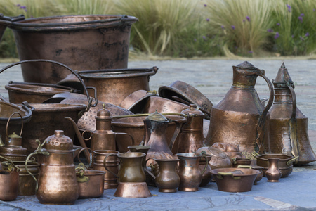 old pots and pans Stock Photo - 30391173