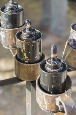 oil lamp: oil lamp Stock Photo