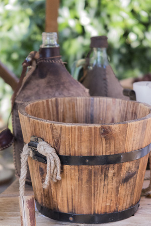 old wooden container Reklamní fotografie