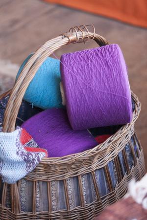 wool in basket photo