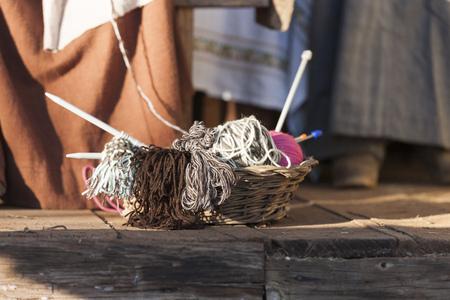 workwoman: knitting workwoman and
