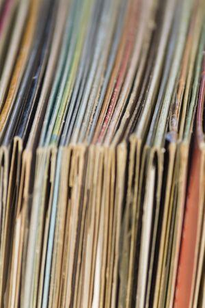 old vinyl records Stock Photo