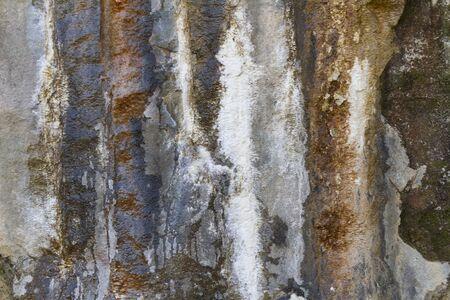 ferruginous: detail of the rock wall