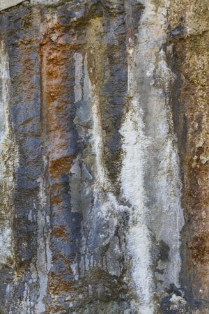 crack climb: detail of the rock wall