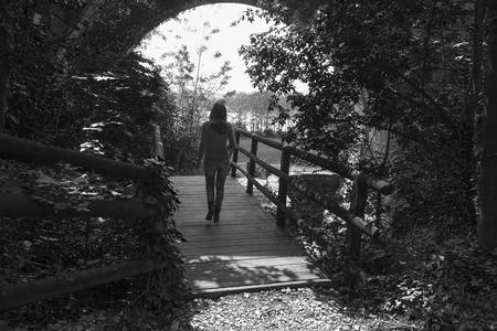 walk in: walk in the forest