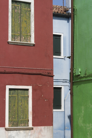 typical: old typical houses Stock Photo