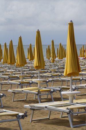 deck chairs: deck chairs on the beach