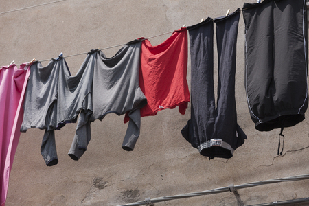 hanging clothes: hanging clothes