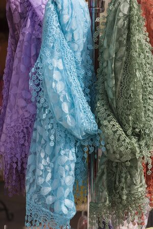 scarves: colorful scarves Stock Photo