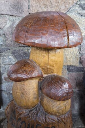 inlaid: mushroom inlaid in the trunk of the tree