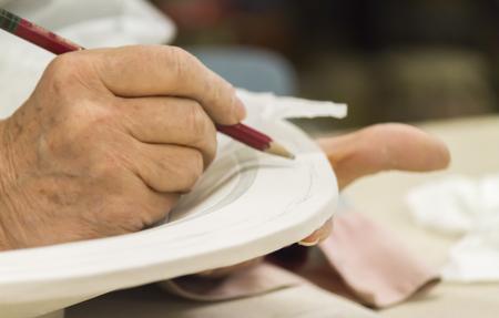 ceramiki: dekoracji ceramiki ręcznie robione