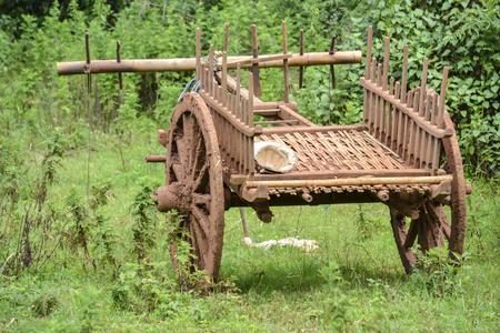 old wood farm wagon: old wooden cart