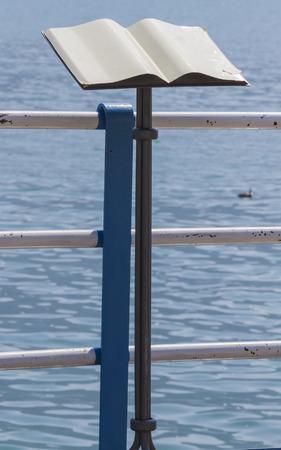 lectern: lectern on the lake shore