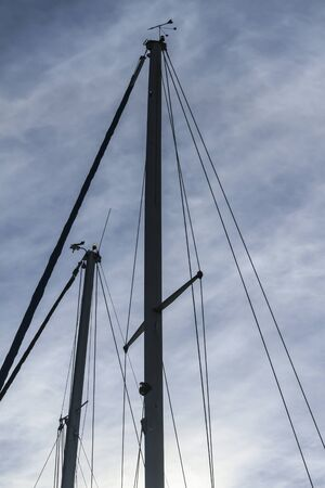 lowered: lowered sails in the winter