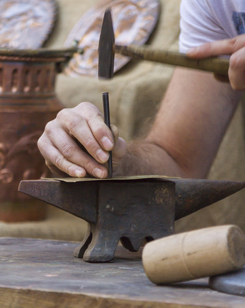 anvil: hammer and anvil Stock Photo